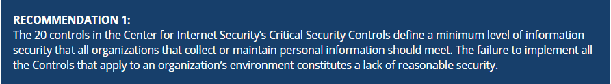 State of California Data Security Breach Reporting ecommendation 1
